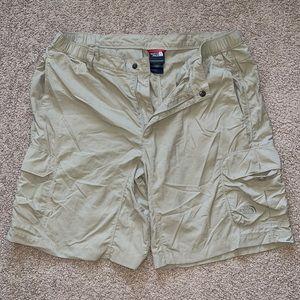 North Face khaki cargo shorts